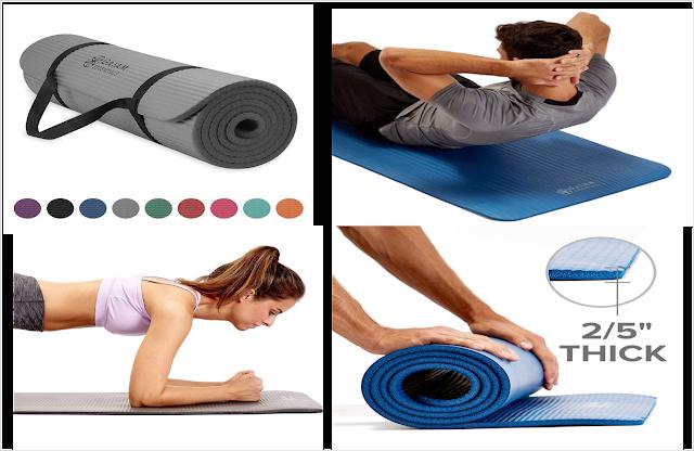 Thick Yoga Mat by Gaiam Essentials
