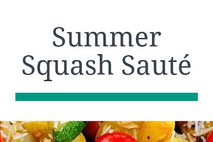 Summer Squash Sauté