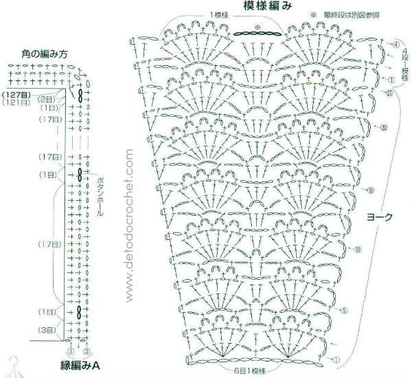 Blusa crochet de delicado diseño / Patrones | Todo crochet