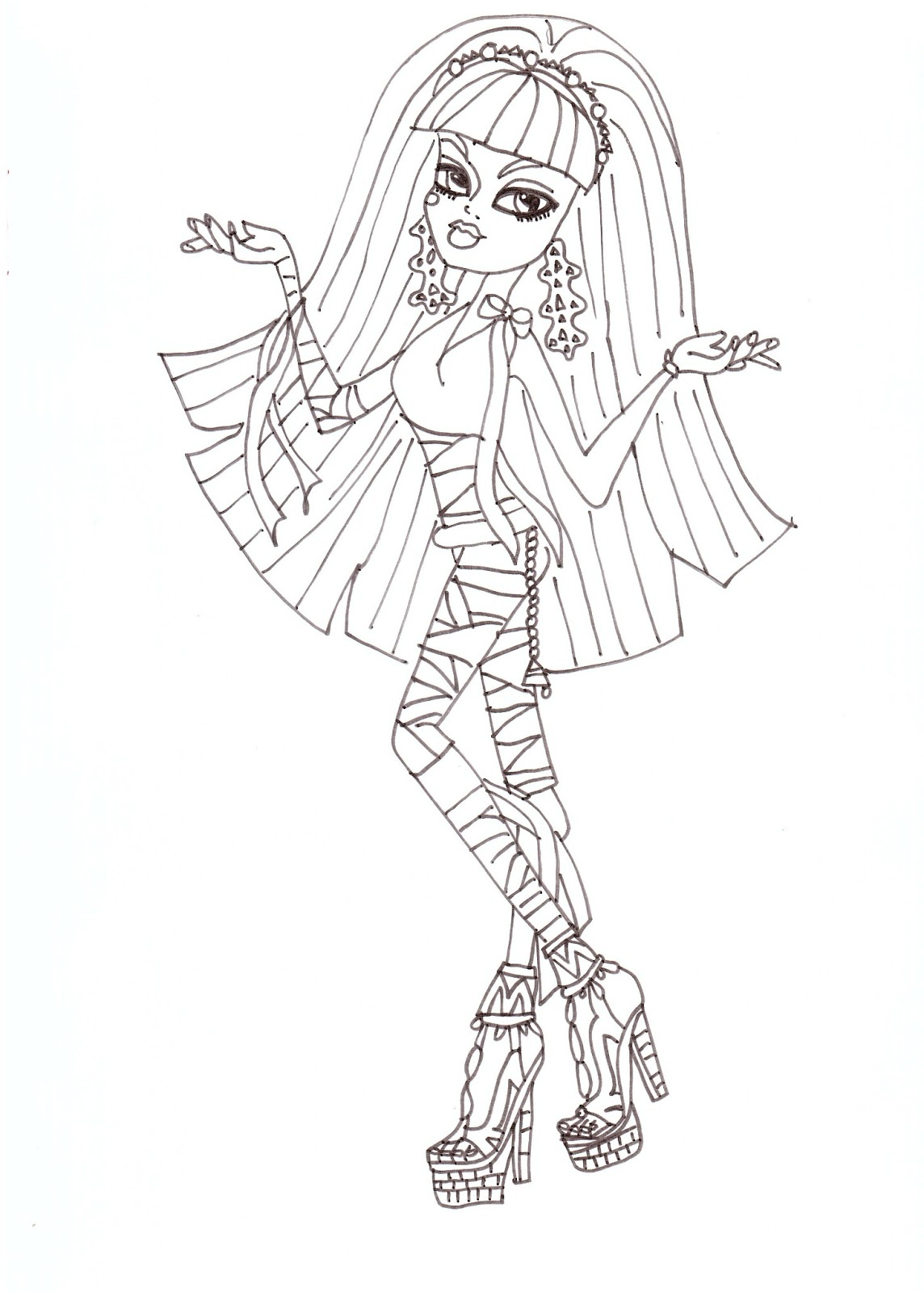 Free Printable Monster High Coloring Pages: Cleo Coloring