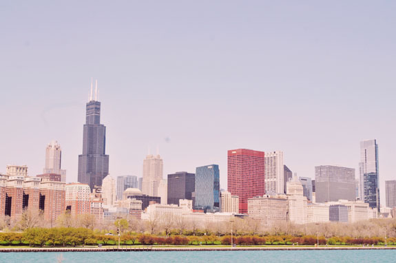 2 days in Chicago itinerary: view of skyline from Lakefront trail
