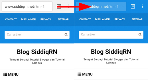 Mengganti warna address bar chrome mobile di blog