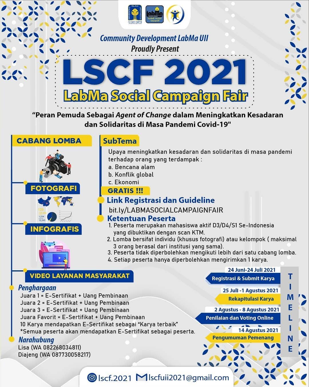 LSCF 2021 LabMa Social Campaign Fair Lomba Fotografi oleh Laboratorium Mahasiswa UII