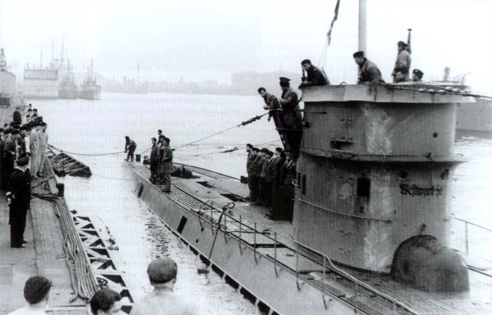 14+u-37+u-boat+base+wilhelmshaven+patrol+werner+hartmann+westward-ho ...