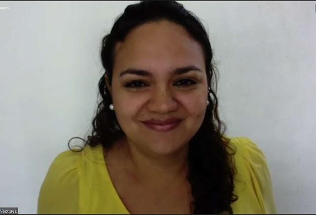coordinadora del Proyecto de activación y fomento a la lectura UADY-COBAY, Eloísa Alcocer Vázquez
