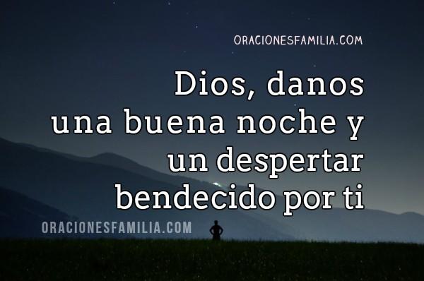 Oración corta para dormir tranquilo en la noche. Oraciones de Buenas noches por Mery Bracho con imágenes cristianas.