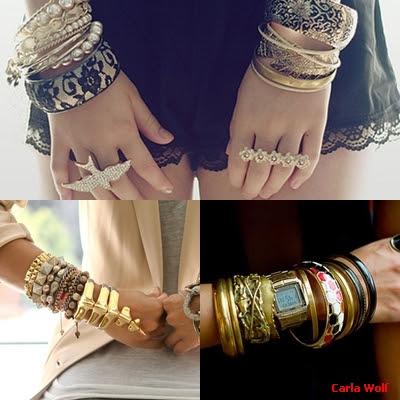 mix de pulseiras tendência