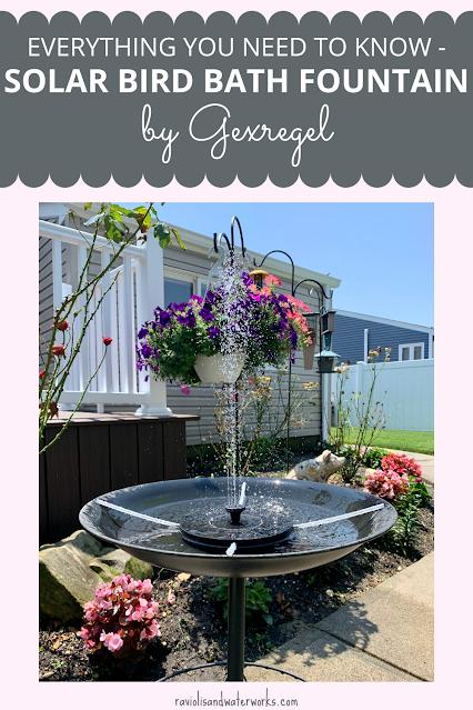 how to turn a regular bird bath into a fountain