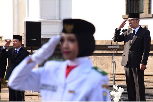 Insiden Bendera Jatuh Terjadi saat Upacara Harlah Pancasila yang Dipimpin Ridwan Kamil