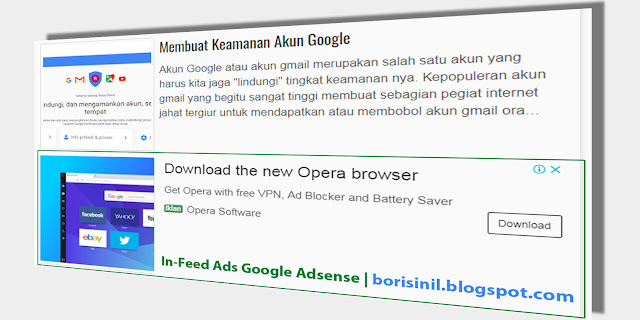 Tutorial In-feed Ads Google Adsense