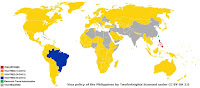 Philippines Visa Policy Map