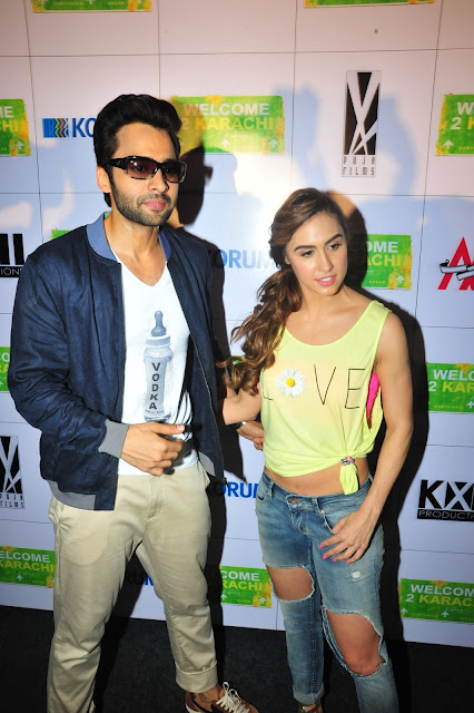 Lauren Gottlieb Looks Super Sexy In Ripped Jeans and Yellow Top At Film 'Welcome To Karachi' Promotions