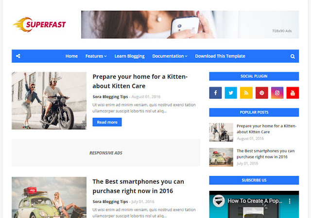 [Best] Templates for Blogger To get Adsense Approval Easily