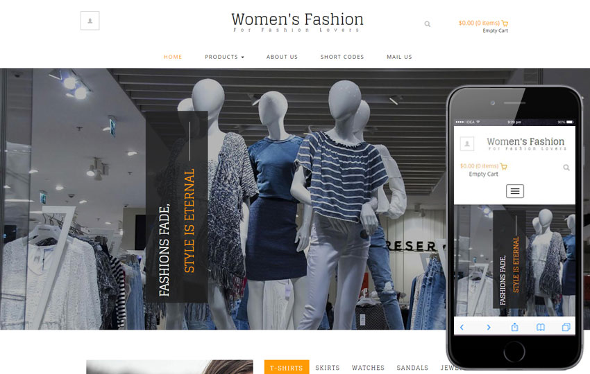 E-Commerce Free Web Template 8 - Women Fashion E-commerce template