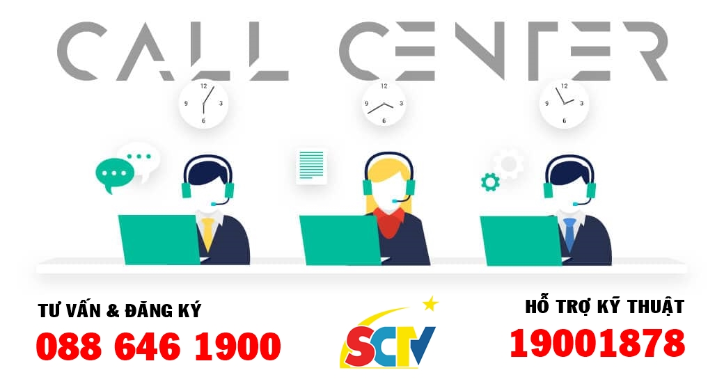 Tổng đài SCTV - Hỗ trợ kỹ thuật - Báo hỏng dịch vụ của SCTV
