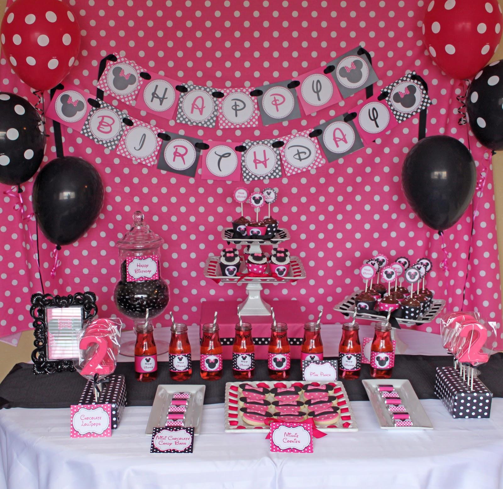 Minnie Mouse Party Decorations Favors Ideas