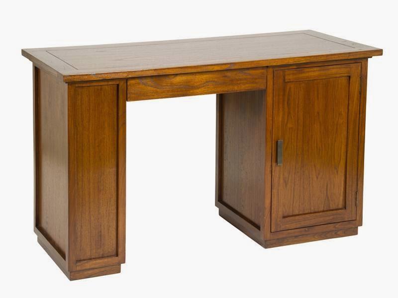 escritorio madera colonial, mesa despacho