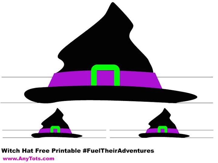 picture about Witch Hat Printable named Halloween Witch Hat Frankenstein Hat Totally free Printable - Any Tots