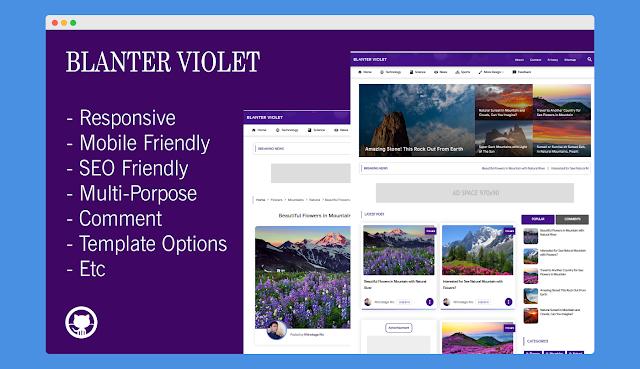 Blanter Violet Blogger Template!
