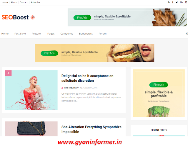 Seo Friendly For Blogger Template