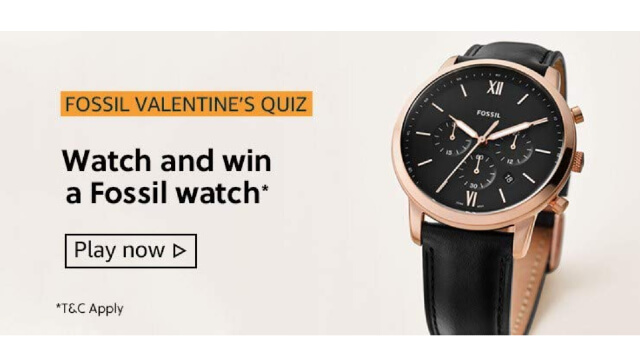 Amazon Fossil Valentines Quiz Answers Today win - Fossil Valentines