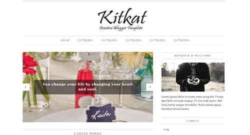 KitKat Blogger Template