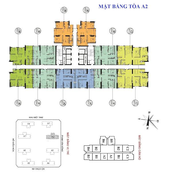 Mặt bằng thiết kế căn hộ tòa A2 An Bình City
