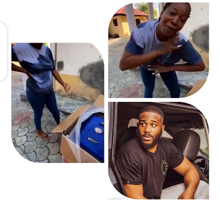 Shortly after Nengi gave Lucy money, Kidd bought Lucy a new generator & a fridge for her business (SEE PHOTOS)