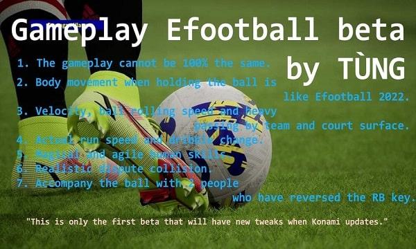 PES 2017 Mod Gameplay eFootball 2022 beta v1 by Tùng