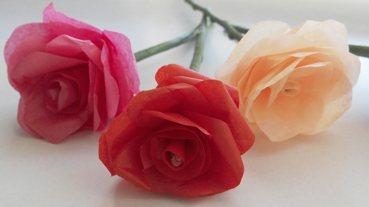 Mi Fiesta Ideal Como Hacer Rosas Con Papel Chinacrepe - Cmo-hacer-rosas-de-papel