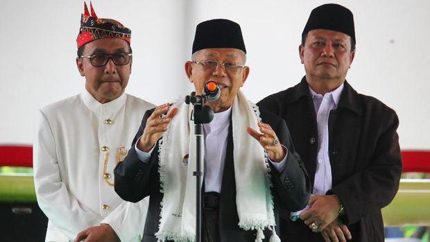 Bersilaturahmi ke Cianjur, Ma'ruf Amin Ingin Pastikan Menang di Jabar