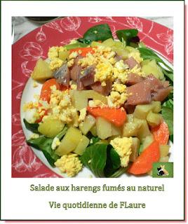 Vie quotidienne de FLaure : Salade aux harengs fumés au naturel
