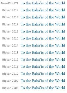 Послания к Ризвану на сайте Всемирного Дома Справедливости