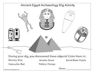 ancient Egypt worksheet archaeology