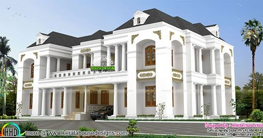 luxury bungalow style colonial indian home design kerala home design