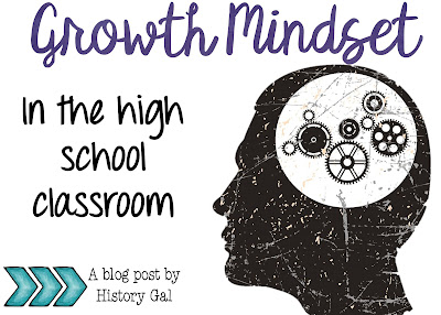 Growth Mindset in High School by History Gal