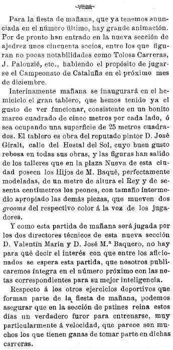 Notas sobre el tablero de ajedrez gigante en 1904