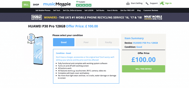 هبوط سعر هاتف Huawei P30 Pro من 1150$ إلى 130 دولار!