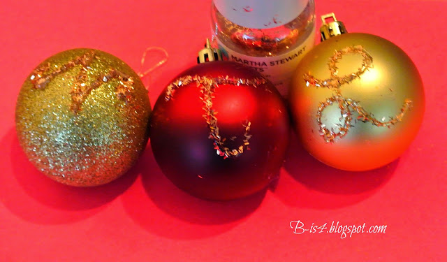 ornaments, personalized gifts, glitter