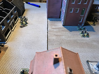 German rifles engage the Lewis section