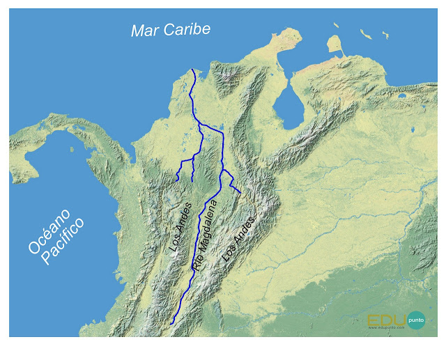 hidrografia, magdalena, america del sur, sudamerica ,rio, cuenca