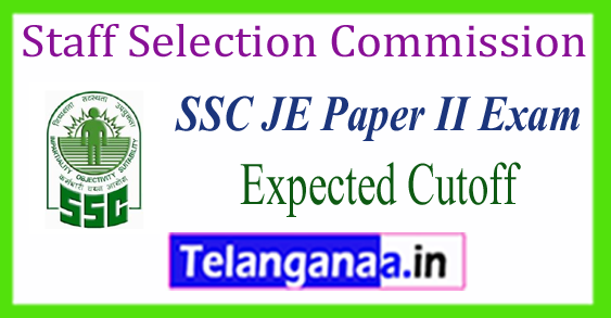 SSC JE Staff Selection Commission Paper 2 Descriptive Expected Cutoff 2017