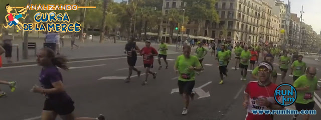 Ronda Sant Antoni al paso por Plaça Unviersitat - Analizando Cursa de la Mercè 2016