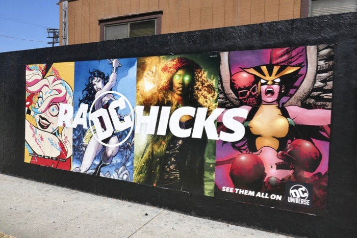 Rad Chicks DC Universe street posters