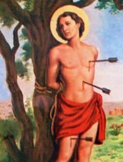 Pintura de São Sebastião, padroeiro do Rio de Janeiro