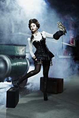 Steampunk makeup tips. Ahesive lace masks that adhere to skin are a sexy gothic romantic look for costume cosplay or masquerade balls.