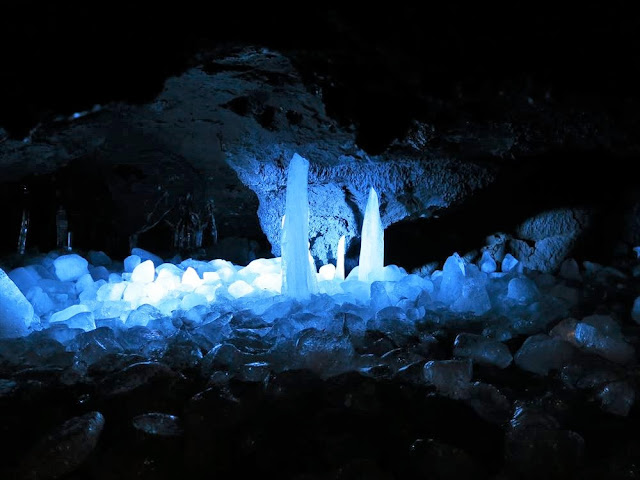Amazing Narusawa Ice Cave on Japan's Mount Fuji