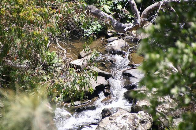 creek at bottom of waterfall