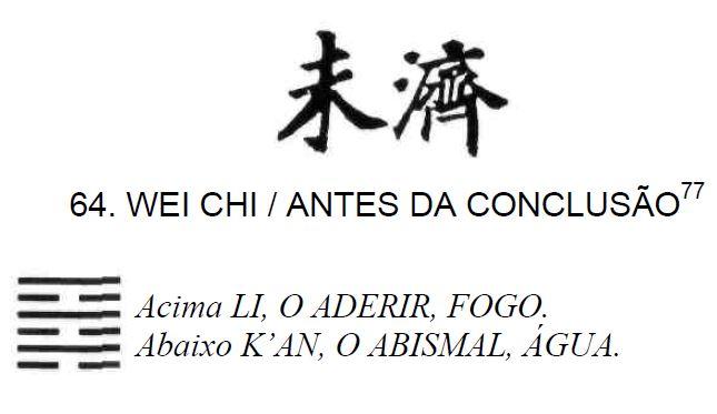 Imagem de 'Wei Chi / Antes da Conclusão' - hexagrama número 64, de 64 que fazem parte do I Ching, o Livro das Mutações