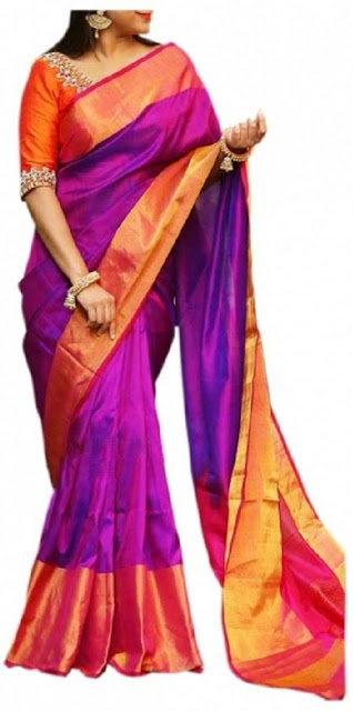 Uppada Yellow Green Pure Silk Saree